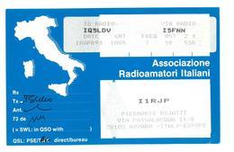 Pubblicità Cartolina Stazione CB Associazione Radioamatori Italiani I1RJP Novara To Radio IQ5LDV 18 Aprile 1993 Condizio - CB