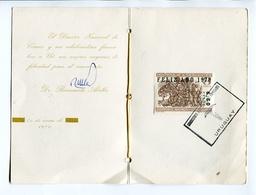 FELIZ AÑO NUEVO 1970. HOMENAJE A CERVANTES. TARJETA URUGUAY AÑO 1970 OBLITERES CARD - LILHU - Año Nuevo