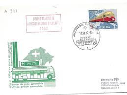 """166 - 53 - Carte Pen Avec Oblit Spéciale """"Briefmarken Ausstellung Thalwil 1962""""i - Marcophilie"""