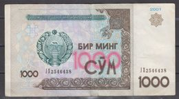 2001-UZBEKISTAN-1000 SUM NOTE-FINE - Uzbekistan