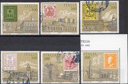 REPUBBLICA 1985 - ESPOSIZIONE MONDIALE DI FILATELIA - 6 VALORI USATI - 6. 1946-.. Repubblica