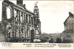 La Guerre 1914-15. 205 Albert. Les Nouvelles Ruines De L'Eglise. Dernier Bombardement. à Simone Platiau. 8 Mars 1922 - Guerre 1914-18