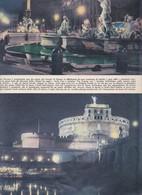 (pagine-pages)ROMA DI NOTTE  Settimanaincom1957/33. - Libri, Riviste, Fumetti