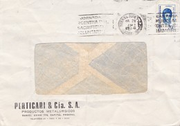"PERTICARI & C-CIRCULEE 1974 BUENOS AIRES-BANDELETA PARLANTE""JORNADA ARGENTINA DEL SACRIFICIO VOLUNTARI""-ARGENTINE- BLEUP - Argentina"