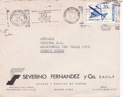 "SEVERINO FERNANDEZ & C-CIRCULEE 1973 BUENOS AIRES-BANDELETA PARLANTE""OLIMPIADA MATEMATICA ARGENTINA"" BLEUP - Storia Postale"