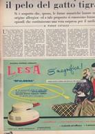 (pagine-pages)PUBBLICITA' LESA   Settimanaincom1957/29. - Libri, Riviste, Fumetti
