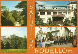 "3030 "" SALUTI DA RODELLO - 4 VEDUTE "" CARTOLINA POSTALE ORIGINALE  SPED. - Saluti Da.../ Gruss Aus..."