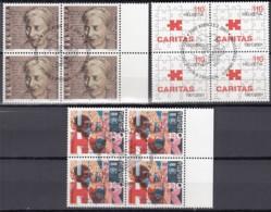 SCHWEIZ 1746, 1748-1749, 4erBlock, Gestempelt, Jahresereignisse 2001 - Blocks & Kleinbögen