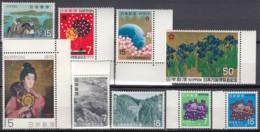 JAPAN  MiNr. 1069-1075, 1079-1080, Postfrisch **, Aus Jahrgang 1970: Nationalparks, EXPO, Postleitzahlen - Neufs
