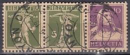 SCHWEIZ  W 6 X 3erStreifen, Gestempelt, Tell Und Tellknabe 1930-1933 - Zusammendrucke