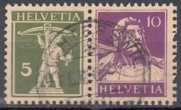 SCHWEIZ  W 6 Z, Gestempelt, Tell Und Tellknabe 1930-1933 - Zusammendrucke