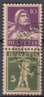 SCHWEIZ  S 23 X, Gestempelt, Tell Und Tellknabe 1930-1933 - Zusammendrucke