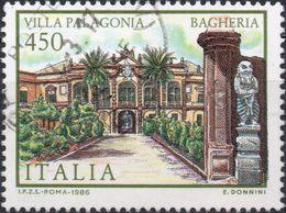 REPUBBLICA 1986 - VILLE, VILLA PALAGONIA - 1 VALORE USATO - 6. 1946-.. Repubblica