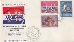 Enveloppe  FDC  1er  Jour   VIETNAM   Anniversaire  De  La  Révolution    1964 - Viêt-Nam