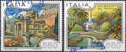 REPUBBLICA 1986 - TURISMO - 2 VALORI USATI - 6. 1946-.. Repubblica
