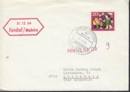 """DEUTSCHE SCHIFFSPOST  MS """"Berlin """", Weihnachtsreise, Norddeutscher Lloyd, 31.12.1964, Funchal/Madeira - Maritime"""