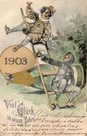 23 - Année Date Millesime - 1903 - Champagne Clown Ramoneur - New Year