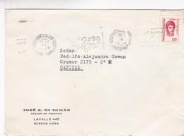 """JOSE E DI TOMAS-CIRCULEE 1974 BUENOS AIRES-BANDELETA PARLANTE """"ISLAS MALVINAS SON ARGENTINAS"""" - BLEUP - Storia Postale"""