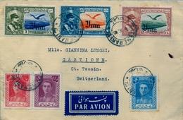 1945 , IRÁN , MAGNÍFICO SOBRE CIRCULADO ENTRE TEHERÁN Y CASTIONE , LLEGADA , CORREO AÉREO - Irán