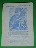 Madonna Delle GRAZIE Latte Allatta/Chiesa Cappuccini S.GIOVANNI ROTONDO Foggia/Devozione Delle Tre Ave Maria - Santino - Santini