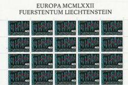 91733)  L' Europa KB ** Liechtenstein 1972-N. 564 - Blocchi & Fogli