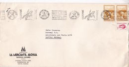 "LA MERCANTIL ANDINA SA, MENDOZA-CIRCULEE 1973-BANDELETA PARLANTE ""AMERICA RINDE ETERNO HOMENAGEL SAN MARTIN"" - BLEUP - Briefe U. Dokumente"