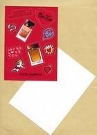 Carte Promo Perfume Card Avec 10 Stickers DOLCE & GABBANA * SAINT VALENTIN VALENTINE 2019 * R/V * 10,5 X 15 Cm *** 1 EX - Modern (from 1961)