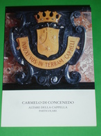 Monastero S. Maria Del Monte CARMELO Di CONCENEDO Di BARZIO Lecco/ Altare Della Cappella (particolare) - Santini