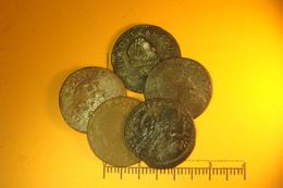 Lot De  Double Tournois Feodal Et Royal (65) - 987-1789 Monnaies Royales