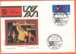 GERMANIA - GERMANY - Deutschland - ALLEMAGNE - BUNDESPOST - 1978 - 50 Für Den Sport + Special Cancel Garmisch-Partenkirc - [7] Repubblica Federale