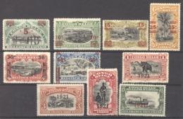 Belgique  -  Congo  :  Yv  85-94  * - 1894-1923 Mols: Neufs