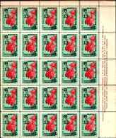 91737)  BULGARIA 1963 MOSTRA EUROPEISTICA RICCIONE 3 VAL. MNH - BLOCCO DI 25 SERIE COMPLETE - Bulgarie