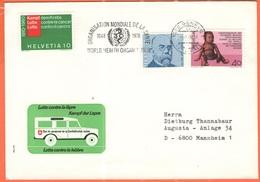 SVIZZERA - SUISSE - HELVETIA - 1978 - 40 Aiuto Ai Lebbrosi Dai Funzionari Svizzeri + 40 Robert Koch + 10 Lotta Contro Il - Svizzera
