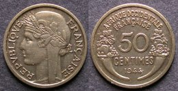 AFRIQUE OCCIDENTALE FRANCAISE   50 Centimes  1944  AOF   FRENCH WESTERN AFRICA   PORT OFFERT - Guinée