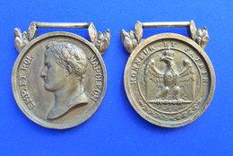 2 MÉDAILLES BRONZE - NAPOLÉON 1 Er - Medals