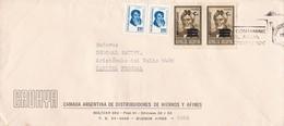 "CADHYA-CIRCULEE 1976-BANDELETA PARLANTE ""NO CONTAMINE EL AGUA"" STAMP A PAIR AVEC SURTAXE - BLEUP - Argentina"