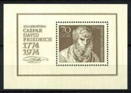 91741) GERMANIA - DDR - BF.N.40 - 1974 - 200° Nascita Di Caspar David Friedrich (1774-1840)- MNH - [6] Repubblica Democratica