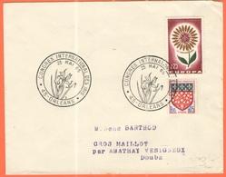 FRANCIA - France - 1965 - 0,05 Amiens + 0,25 Europa Cept + Special Cancel Congrès International Des Iris - Viaggiata Da - Francia