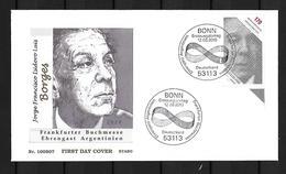 2010 Joint/Gemeinschaftsausgabe Germany And Argentina, FDC GERMANY 1 STAMP: Writer Jorge Luis Borges - Gezamelijke Uitgaven