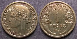 AFRIQUE OCCIDENTALE FRANCAISE   1 Franc  1944   AOF  FRENCH WESTERN AFRICA   PORT OFFERT - Guinea