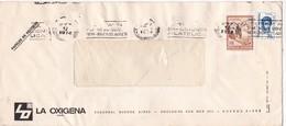 """LA OXIGENA-CIRCULEE 1974-BANDELETA PARLANTE """"EXPOSICION FILATELICA BUENOS AIRES"""" - BLEUP - Argentina"""