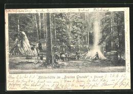 AK Tharandt, Köhlerhütte Im Breiten Grunde - Cartes Postales