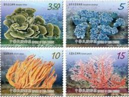 2015 Taiwan Corals Stamps (II) Coral Ocean Sea Marine Life Fauna WWF - W.W.F.