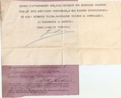 """DS--00002-- CARTOLINA PRECETTO ALLA CHIAMATA IN SERVIZIO """"MILIZIA VOLONTARIA PER LA SICUREZZA NAZIONALE - Documenti Storici"""