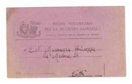 DS--00003-- CARTOLINA PRECETTO ALLA CHIAMATA IN SERVIZIO-MILIZIA VOLONTARIA PER LA SICUREZZA NAZIONALE - Documenti Storici