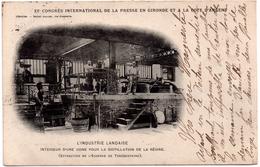 CPA XIe Congrès International De La Presse En Gironde, Industrie Landaise, Intérieur Usine Pour Distillation De Résine - Non Classés