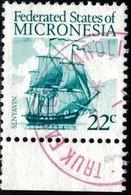 Tall Ship Senyavin, Micronesia Stamp SC#35 Used - Micronésie