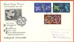 GB - Regno Unito - GREAT BRITAIN - UK - 1961 - Europa Cept - Brighton & Hove - FDC - FDC