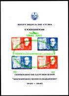 Cuba 1951 Yellow Fever Air Souvenir Sheet Unmounted Mint. - Cuba