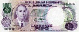 PHILIPPINES=1949   100  PISO Sign 8  Low Serial   P-147   UNC - Filippine